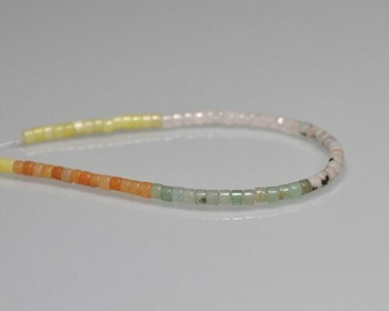 "Drum Mixed Colour Quartz Beads | Sold by 1 Strand(9"") 