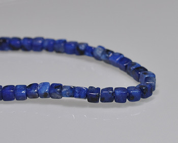 "Cube Blue Quartz Beads 4mm | Sold by 1 Strand(8"") 