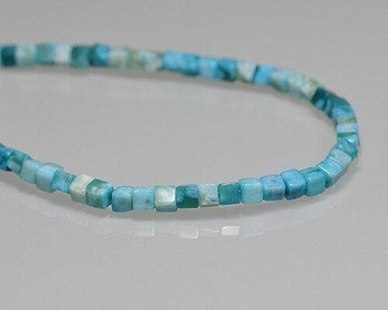 "Cube Turquoise Quartz Beads 4mm | Sold by 1 Strand(7.5"") 