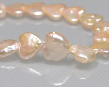 Heart Shape Freshwater Pearl Beads 9x10mm | Sold by 4 Pcs/Pk | BS0109
