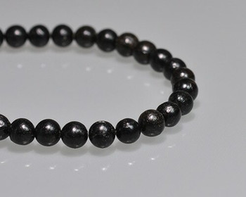 """Round Black Coral Beads 6mm 