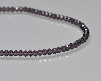 "Briolette Amethyst Crystal Beads 3x 3.5mm | Sold by 1 Strand(8"") 