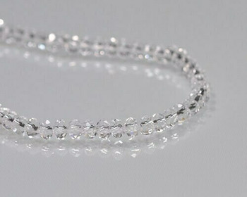 """Briolette Clear Crystal Beads 3x 4.5mm 