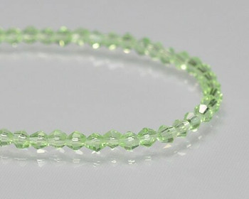 "Faceted Bicone Peridot Crystal Crystal Beads 3x3 | Sold by 1 Strand(12"") 