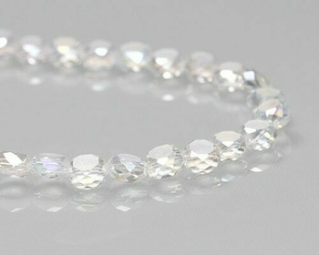 "Rondelle Side-hole Clear Crystal Beads 6x4mm | Sold by 1 Strand(10"") 