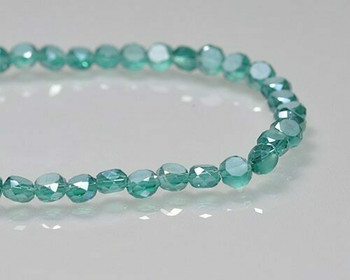 "Rondelle Side-hole Emerald Crystal Crystal Beads 6x4mm | Sold by 1 Strand(10"") 