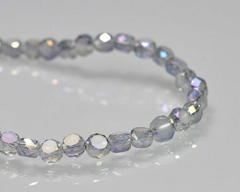 "Rondelle Side-hole Blue Shade Crystal Beads 6x4mm | Sold by 1 Strand(10"") 