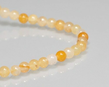"Round Ochie Topaz Beads 4mm | Sold by 1 Strand(7.5"") 