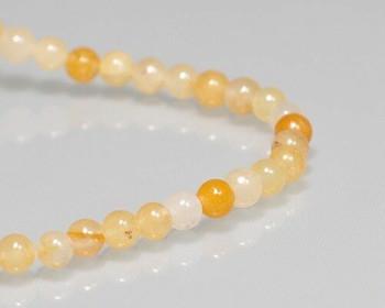 "Round Ochie Topaz Beads 4mm | Sold by 1 Strand(7.5"") | BS0064"