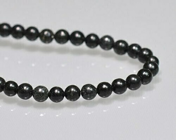 """Round Obsidian Beads 4mm 