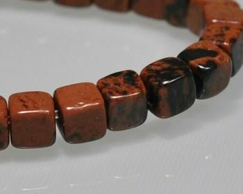 "Cube Golden Swan Jasper Beads 4mm   Sold by 1 Strand(7.5"")   BS0105"