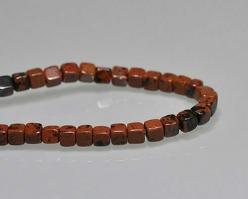 "Cube Golden Swan Jasper Beads 4mm | Sold by 1 Strand(7.5"") 