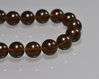 "Round Smoky Quartz Beads 12mm | Sold by 1 Strand(7.5"") 