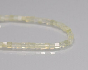 """Cube Green Rutilate Quartz Beads 3mm 