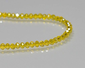 """Briolette Sunflower Crystal Beads 3x 3.5mm   Sold by 1 Strand(16"""")   BS0132"""