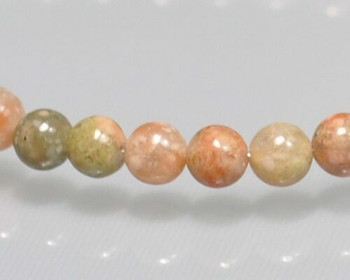 "Round Red & Green Marble Beads 4mm | Sold by 1 Strand(7.5"") 