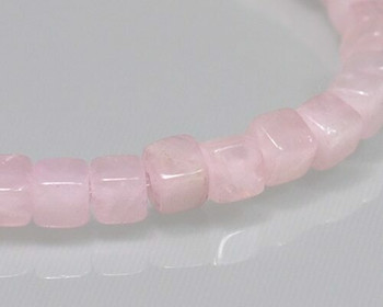 "Cube Pink Quartz Beads 4mm | Sold by 1 Strand(7.5"") 