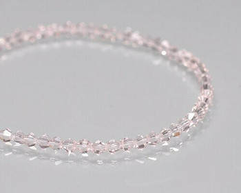 "Faceted Bicone Vintage Rose Crystal Beads 3x3 | Sold by 1 Strand(6"") 