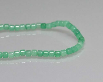 "Drum Green Aventurine Beads 4x4.5mm | Sold by 1 Strand(8"") 