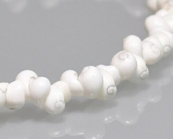 "Snail Shell White Beads 4-5mm | Sold by 1 Strand(16"") 