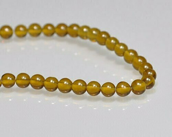 """Round Citrine Beads 4mm 