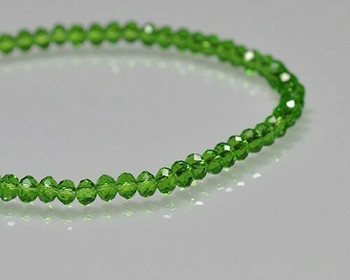 """Briolette Fem Green Crystal Beads 3x 4.5mm 
