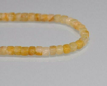 "Cube Ochie Topaz Beads 4-4.5mm | Sold by 1 Strand(8"") 