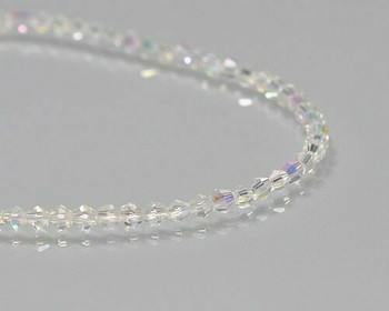 "Faceted Bicone Brilliance Crystal Beads 3x3.5 | Sold by 1 Strand(18"") 
