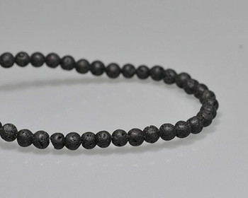 "Round Black Coral Beads 4.5mm | Sold by 1 Strand(7.5"") 