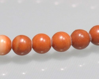 """Round Red Malachite Beads 4mm 