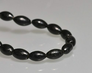 "Oval Black Coral Beads 6x12mm | Sold by 1 Strand(7.5"") 