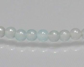 "Round Baby Blue Quartz 3mm | Sold by 1 Strand(7.5"") | BS0116"