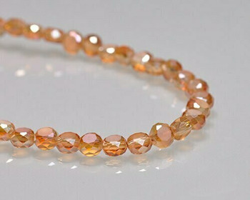 "Rondelle Side-hole Metallic Sunshine Crystal Beads 6x4mm | Sold by 1 Strand(10"") 