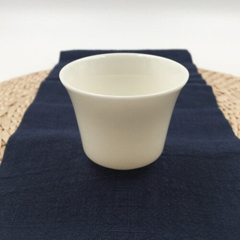 Porcelain Teacup   Tall, , Curved Lip, With Foot   C15