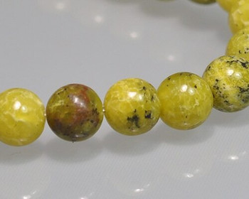 """Round Apple Green Turquoise Quartz Beads 8mm 