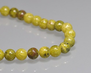 "Round Apple Green Turquoise Quartz Beads 8mm | Sold by 1 Strand(7.5"") 