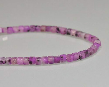 "Cube Purple Quartz Beads 4mm | Sold by 1 Strand(7.5"") 