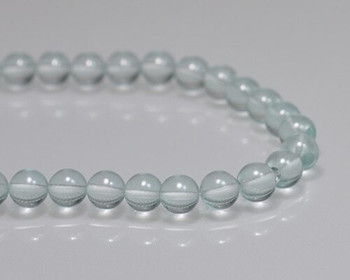 "Round Sky Blue Rock Quartz 8mm | Sold by 1 Strand(7.5"") 
