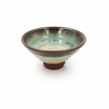 Gloss Turquoise Ridge Teacup | TWC65