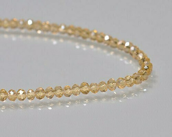 "Briolette Light Topaz Crystal Beads 3x 3.5mm | Sold by 1 Strand(16"") 