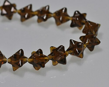 Merkaba Star Smoky Quartz Carving Beads 8x8mm | Sold by 1 bead | BS0123