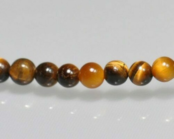 "Round Tiger's-eye Beads 4mm | Sold by 1 Strand(7.5"") 