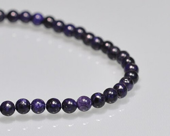 """Round Amethyst Beads 4mm   Sold by 1 Strand(7.5"""")   BS0062"""