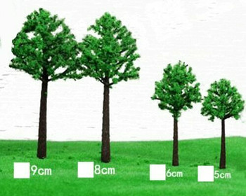 Scale Model Tree 5pc | 50mm | White | Sold by 5Pc/Pk | AM0039