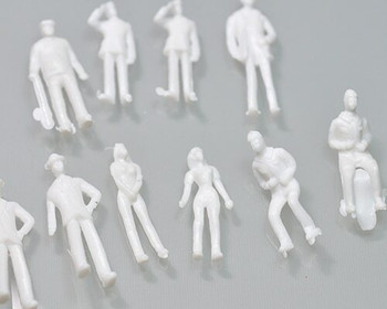 Scale Model Figures set of 10 | 1:75 (27mm) | Seated White | Sold by Pc | AM0031