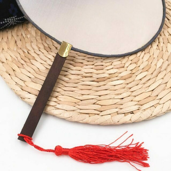Silk Fan | Round (Brown) | Alum Treated | FFP02B