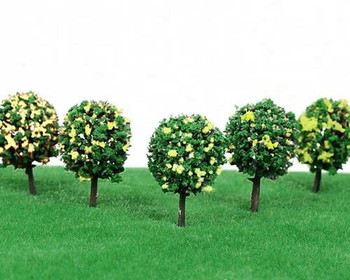 Scale Model Tree 5pc   37mm   Yellow Flower   Sold by Pc   AM0049