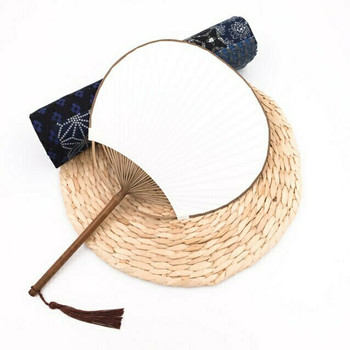 Rice Paper Fan | Natural Purple Bamboo | FFP07