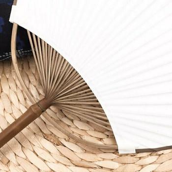 Rice Paper Fan | Natural Purple Bamboo | FFP07
