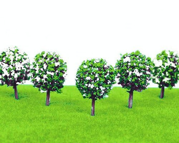 Scale Model Tree 5pc | 37mm | White Flower | Sold by 5Pc/Pk | AM0051